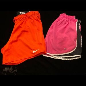 Ladies Nike Running Shorts -Med- EUC *2 pair*